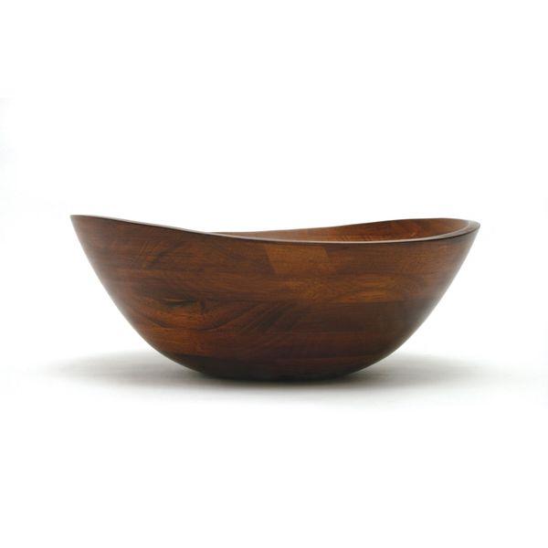 "Lipper International Cherry Matte Bowl with Wavy Rim 13"""