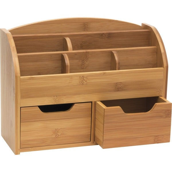 Shop Lipper Bamboo Space-Saving Desk Organizer