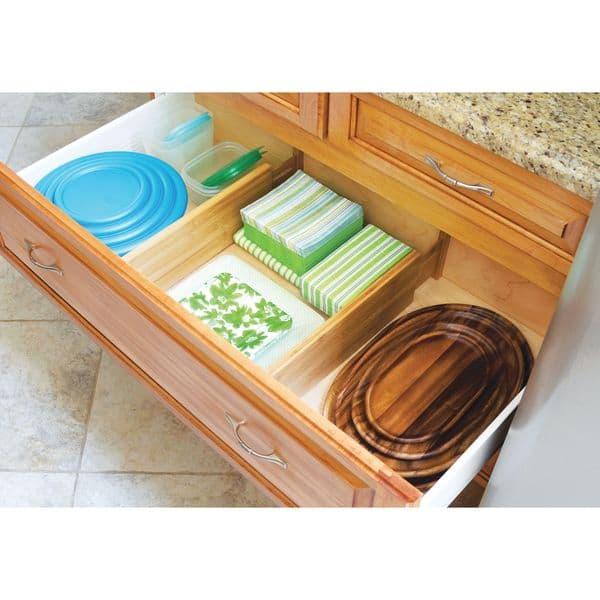 Lipper International Set Of 2 Deep Kitchen Drawer Dividers On Sale Overstock 10290843