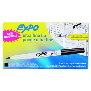 EXPO Low-Odor Black Dry-Erase Marker (Pack of 12)