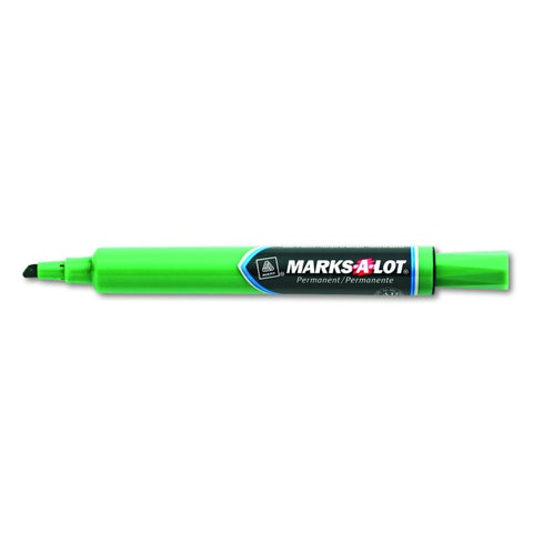 Marks-A-Lot Green Permanent Marker (Pack of 12)