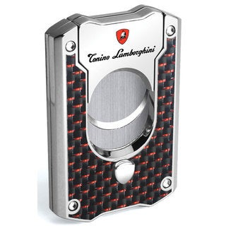 Tonino Lamborghini Le Mans Guillotine Cigar Cutter - Red Carbon Fiber