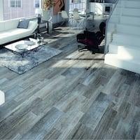 SomerTile Multi-Size Vincoli Gris Porcelain Floor and Wall Tile (12 tiles/13 sqft.)