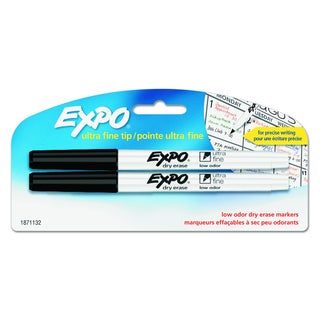 EXPO Low-Odor Black Dry-Erase Marker (Pack of 2)
