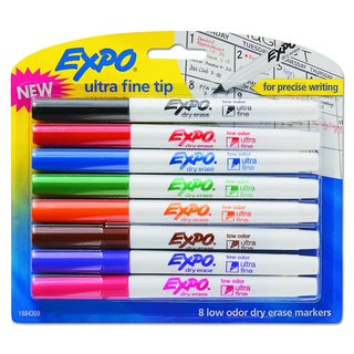EXPO Assorted Low-Odor Dry-Erase Marker (8 per Set)
