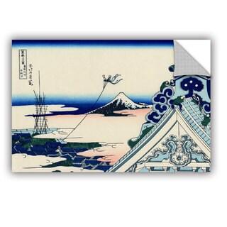 ArtAppealz Katsushika Hokusai 'Asakusa Honganji Temple In Th Eastern Capital' Removable Wall Art