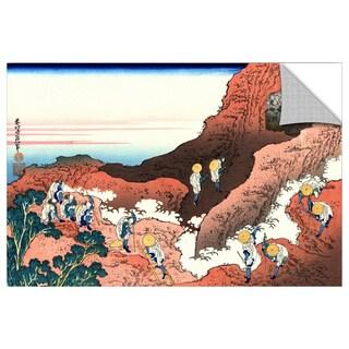 ArtAppealz Katsushika Hokusai 'Climbing On Mt. Fuji' Removable Wall Art