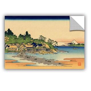 ArtAppealz Katsushika Hokusai 'Enoshima In The Sagami Province' Removable Wall Art