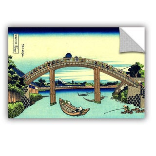 ArtAppealz Katsushika Hokusai 'Fuji See Through The Mannen Bridge At Fukagawa' Removable Wall Art