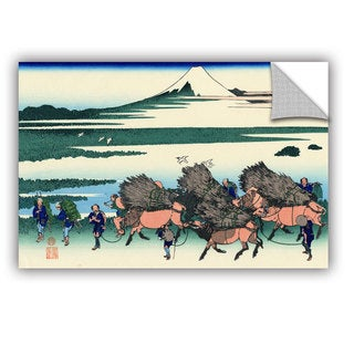 ArtAppealz Katsushika Hokusai 'Ono Shindon In The Suraga Province' Removable Wall Art