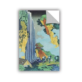 ArtAppealz Katsushika Hokusai 'Ono Waterfall On The Kisokaido' Removable Wall Art