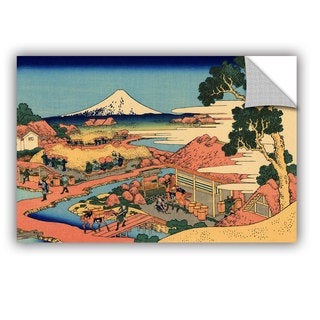ArtAppealz Katsushika Hokusai 'Tea Plantation In Suruga Province' Removable Wall Art