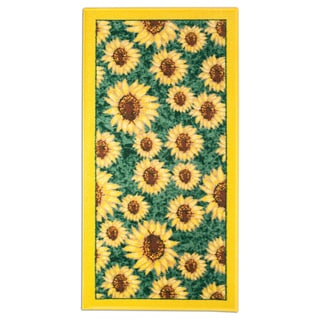 "Sunflower Design Kitchen Rug (20"" x 40"")"