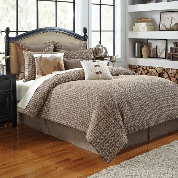 Croscill Aspen Jacquard Woven Lodge Textured 4-piece Comforter Set