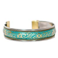 Handmade Thin Aqua Bollywood Cuff (India)