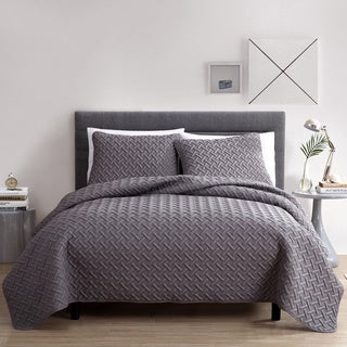 VCNY Nina Embossed 3-piece Quilt Set