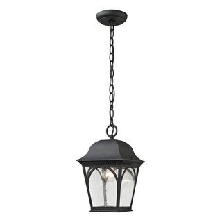 Cornerstone Matte Black Cape Ann 1-light Outdoor Pendant Lantern