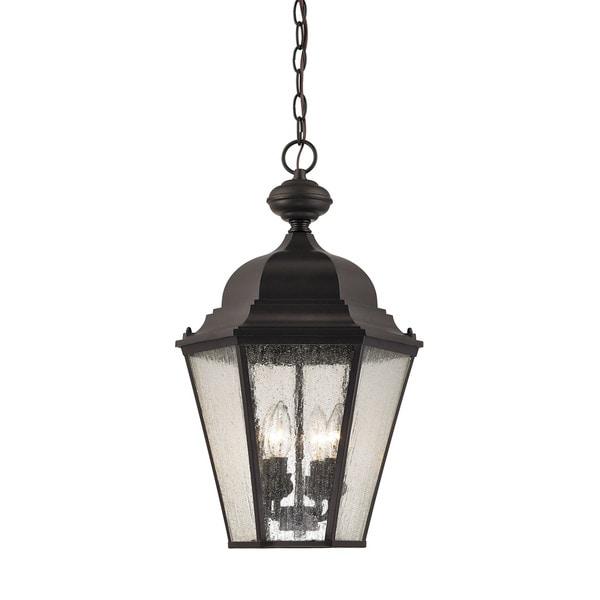 Cornerstone Oil Rubbed Bronze Cotswold 4-light Exterior Hanging Lamp ...