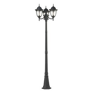 Cornerstone Charcoal Central Square 3-light Outdoor Post Lamp