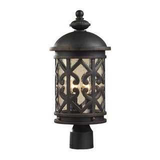 Cornerstone Weathered Charcoal Tuscany Coast 2-light Exterior Post Lamp