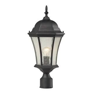 Cornerstone Weathered Charcoal Wellington Park 1-light Exterior Post Lamp