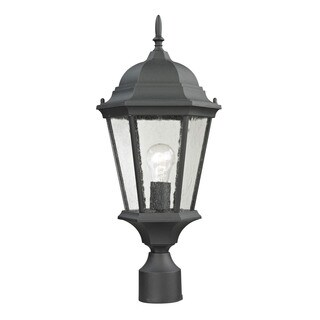 Cornerstone Matte Textured Black Temple Hill Pendant Lantern