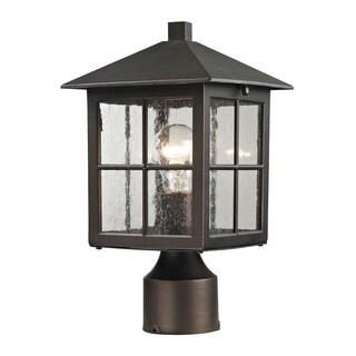 Cornerstone Hazelnut Bronze Shaker Heights Post Lantern