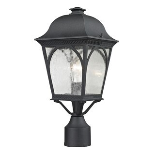 Cornerstone Matte Textured Black Cape Ann 1-light Outdoor Pendant Lantern