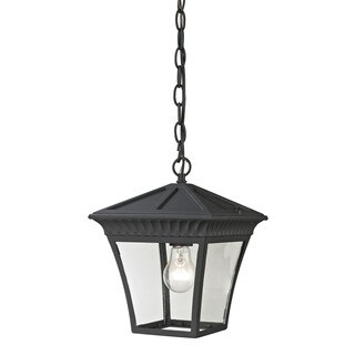 Cornerstone Matte Textured Black Ridgewood Pendant Lantern