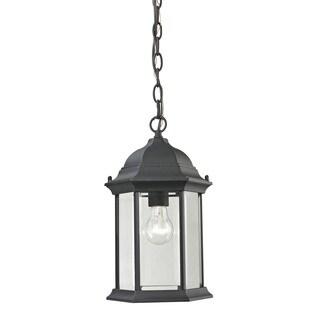 Cornerstone Matte Textured Black Spring Lake 1-light Exterior Hanging Lamp