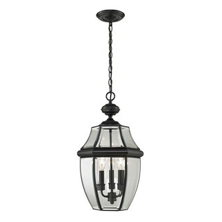 Cornerstone Black Ashford 3-light Exterior Hanging Lantern