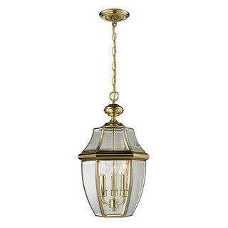 Cornerstone Antique Brass Ashford 3-light Exterior Hanging Lantern