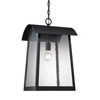 Cornerstone Matte Black Prince Street 1-light Exterior Hanging Lamp