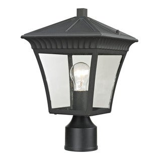 Cornerstone Matte Textured Black Ridgewood Post Lantern