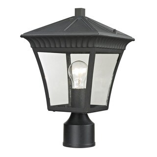 Cornerstone Matte Textured Black Ridgewood Post Lantern