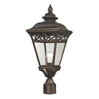 Cornerstone Hazelnut Bronze Mendham 1-light Exterior Post Lantern