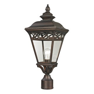 Cornerstone Hazelnut Bronze Mendham 1-light Exterior Post Lantern