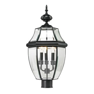 Cornerstone Black Ashford 3-light Exterior Post Lantern