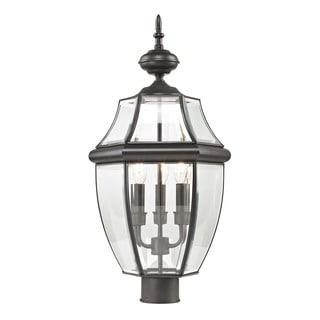 Cornerstone Oil Rubbed Bronze Ashford 3-light Exterior Post Lantern