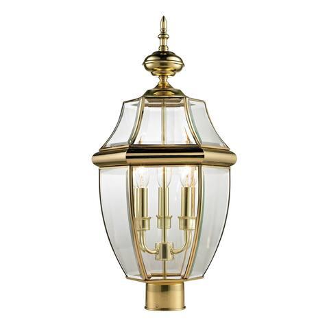 Cornerstone Antique Brass Ashford 3-light Exterior Post Lantern