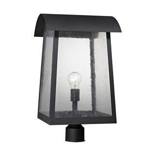 Cornerstone Matte Black Prince Street 1-light Exterior Post Lamp