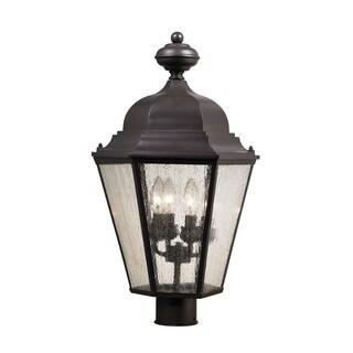 Cornerstone Oil Rubbed Bronze Cotswold 4-light Exterior Post Lamp