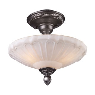 Cornerstone Dark Silver Restoration 3-light Semi Flush