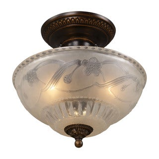 Cornerstone Bronze Restoration 3-light Semi Flush