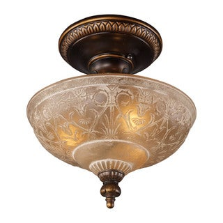 Cornerstone Golden Bronze Restoration 3-light Semi Flush