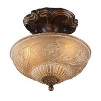 Cornerstone Golden Bronze Restoration 3-light Semi-flush Mount