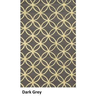 Rizzy Home Eden Harbor Hand-Tufted Grey Geometric Blended Wool Area Rug (9' x 12')