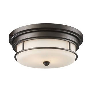 Cornerstone Oiled Bronze Newfield 2-light Flush Mount