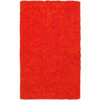 Rizzy Home Commons Hand-Tufted Orange Solid Area Rug (9' x 12')