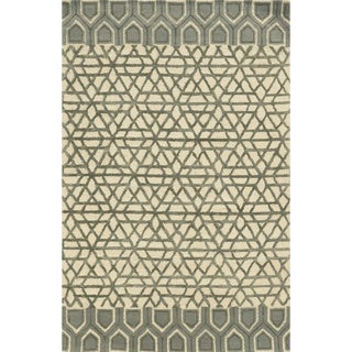 Rizzy Home Eden Harbor Hand-Tufted Geometric Blended Wool Area Rug (9' x 12')